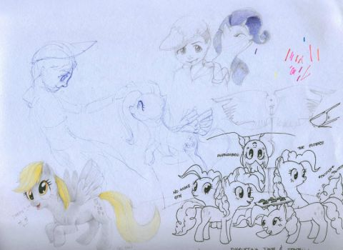 Derpy and a Lot of Pinkie by Ruffu