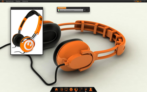 Orange headphone by marcosfifitcent