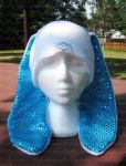 Sparkle Bunny hat Blue by AngelElementsEtsy