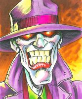 Joker Sketch Card by andypriceart