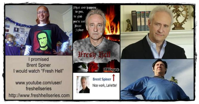 Collage Promoting Brent Spiner's Fresh Hell Series by LaVetteMarie