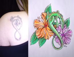 Lizard Tattoo Fixup by DanielleHope