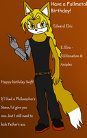 Edward Elric - Happy Birthday Swift! by Frozenvolf