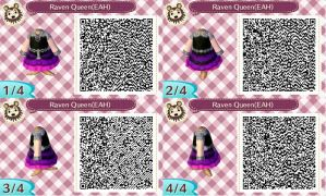 ACNL - Raven Queen - Ever After High . QR Code by KaitlechVonDraconius