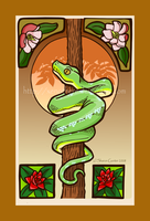 Green Tree Python by Xenothere