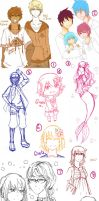 Doodle and Sketches Dump by LilyNekoyama08