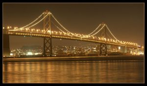 The Bay Bridge by the-sashimi-frog