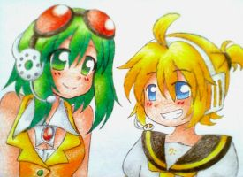 Gumi and Len by Matsy23