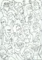 Harry Potter a la The Simpons by Fyrie