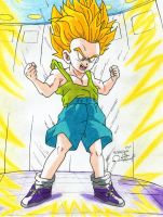 Trunks First Super Saiyan Transformation by alan181818