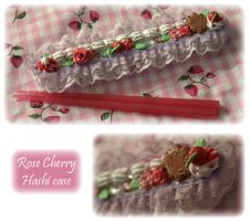 Rose Cherry Hashi Case by apple-pai