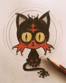 My version of Litten (miniature) by november-ludgate