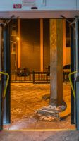 Through the Bus Doors 2 by bowtiephotography