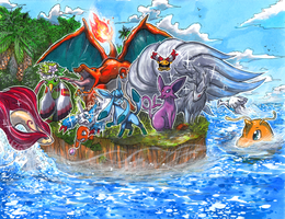 PokeHub UK Banner Commission by matsuyama-takeshi