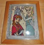 Anna and Elsa Cross Stitch by IamNasher