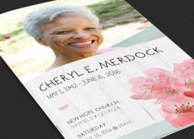 Magnolia Funeral Program Template - Photoshop by Godserv