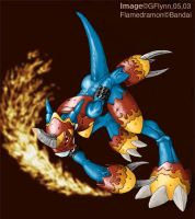 First Flamedramon by snoot