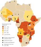 Hydropower Map of Africa by FringerFrankie