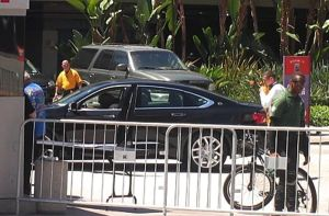 Mark Henry Trying To Get Out Of The Car by reneg661