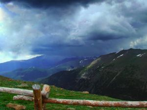 Storm Over Mountains by DamselStock