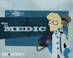 Meet the BLU Medic- Portal Fortress 2 by Crescent-Mond
