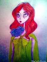 Florence Welch style Tim Burton by electroblood77
