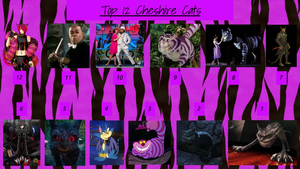 REDONE: Top 12 Cheshire Cats by JJHatter