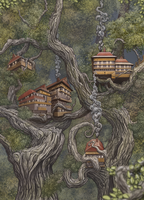 Tree houses by AshiRox