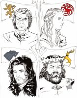 Game of Thrones Heads C2E2 2014 by Arciah