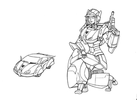 TF Halo-Lumaria pose lineart by lucycat410