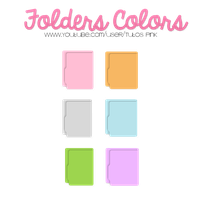Folders Colors by Sweet-Editionss