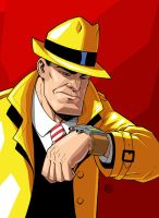 Dick Tracy by drawerofdrawings