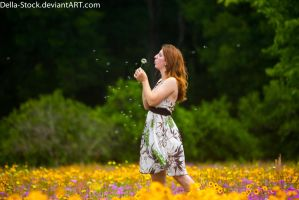 Blowing Dandelions by Della-Stock