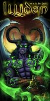 Illidan on the darkness by LuizRaffaello