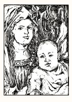 A Child and His Mother by gromyko