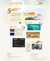 Web Layout with Watercolor Effect by robrein