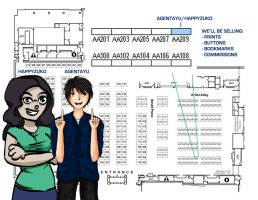 Sakura-Con 2014: Artist Alley Map by agent-ayu