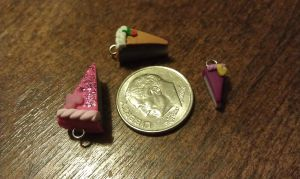 Miniature Clay Cake Charms by Gynecology