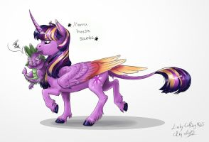 MLP Doodle- Put me down, Twi! by Earthsong9405
