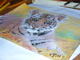 Drawing Tiger by keillly