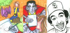 Sketch card commissions 1 032812 by raccoon-eyes