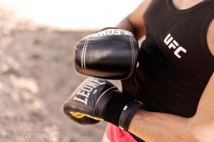 boxing gloves, ok ready by Brompled