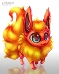 =Pokemon= Chibi Flareon by LeoKatana