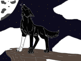 Howling shadow by werewolftg