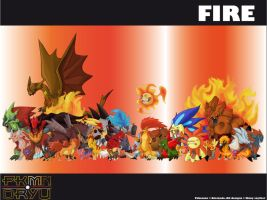 Oryu wall: fire type by shinyscyther