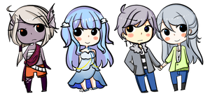 Fat Head Chibies by Mg3-Kiryu