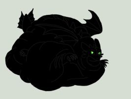 Bloated Toothless by BlackDragon-Studios