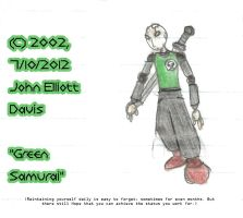 Green Samurai - 2002 Drawing by LittleGreenGamer