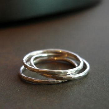 Slim Stacking Rings 3 Stack 1 by PaysonWinters
