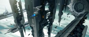 Orbital Outpost by Andead